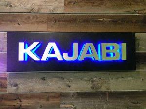 backlit lobby sign
