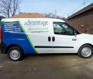 custom commercial van wrap