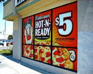 custom promotional window vinyl restaurant